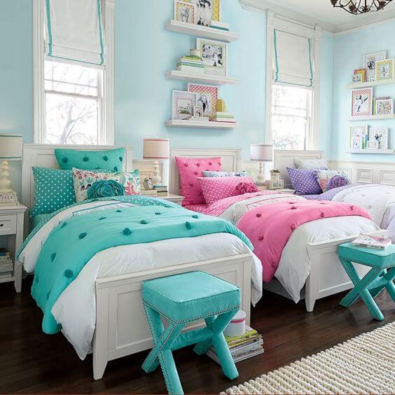 Best 25 Twin Girl Bedrooms Ideas On Pinterest: Decoração Quarto Compartilhado Para Meninas