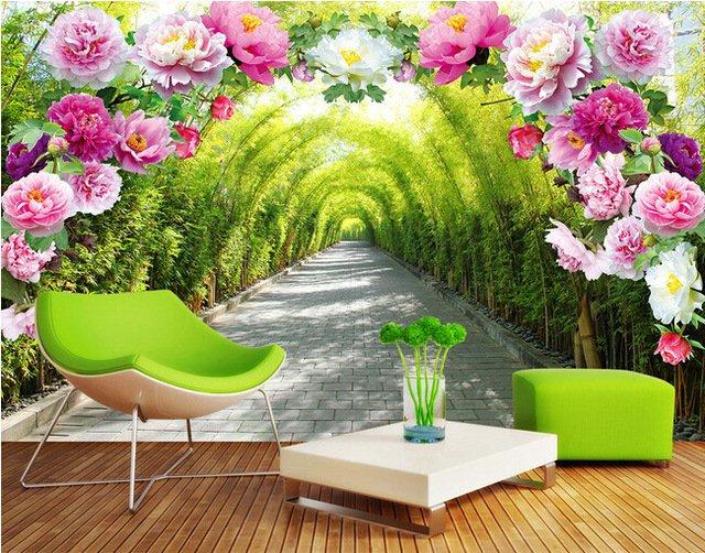 Papel de parede 3d para sala de tv curso aplica o - Papel pintado paisajes ...