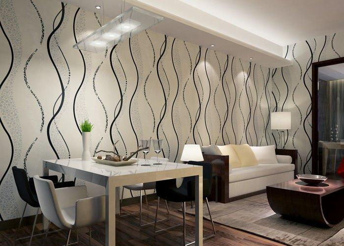 LiquidPiso papel de parede para sala de jantar
