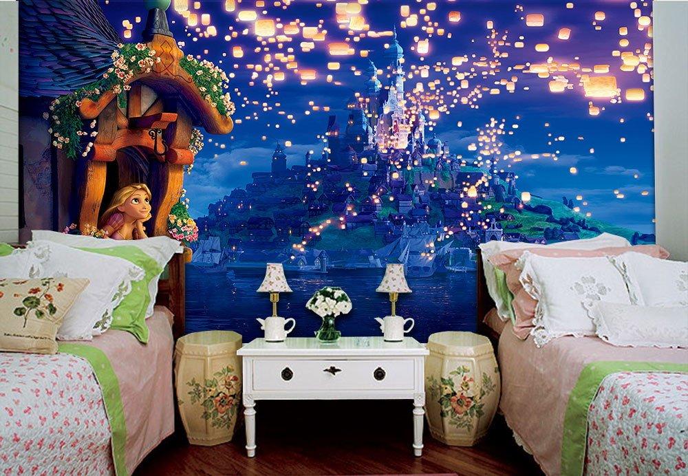 papel-de-parede-3d-feminino-rapunzel-papel-de-parede-para-quarto-de-menina