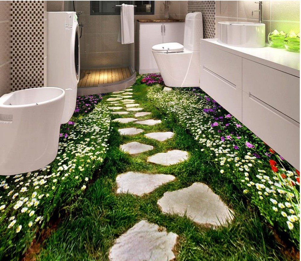 3d-floor-for-mural-flower-road-self-adhesive-3D-floor-PVC-waterfall-floor-Bathroom-3d-wallpaper