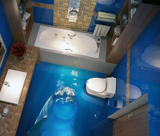 LiquidPiso banheiros pequenos