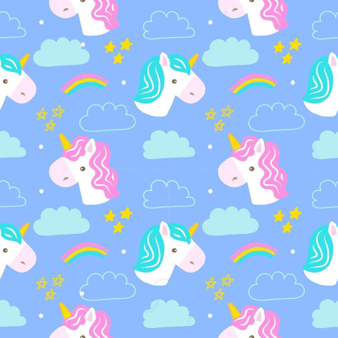 Papel de parede unicornio infantil