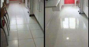 Porcelanato liquido antes e depois