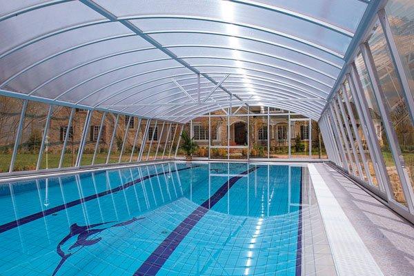 Telha transparente para piscina