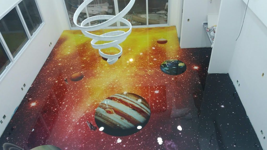 LiquidPiso 3d Desenho Galáxia