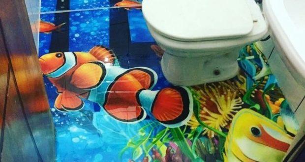 LiquidPiso Banheiro 3D
